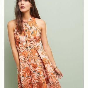 NWT Eva Franco orange halter dress | Anthropologie